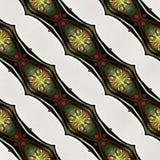 Muster-Zusammenfassungs-barockes Blumen-Hintergrund-Gewebe-Druck-Packpapier-hellblaues rosa Design Ikat Ogee nahtloses Lizenzfreie Stockbilder