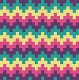 Muster-Zusammenfassungs-Hintergrund-Illustration Vektor-flaches Design-Chevrons ethnische Stockfotografie