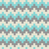 Muster-Zusammenfassungs-Hintergrund-Illustration Vektor-flaches Design-Chevrons ethnische Stockfoto