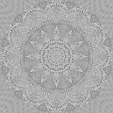 Muster-Zusammenfassungshintergrund des Kaleidoskops silberner Metall Silberner Kaleidoskopmusterzusammenfassung Fractalhintergrun vektor abbildung