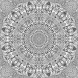 Muster-Zusammenfassungshintergrund des Kaleidoskops silberner Metall Silberner Kaleidoskopmusterzusammenfassung Fractalhintergrun lizenzfreie abbildung