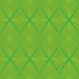 Musterabstraktion lässt grünes Tapetenlianegelb Stockbild