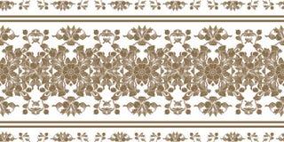 Musterantiken-Art Acanthus der barocken Verzierung der Goldweinlese Retro- Dekoratives Gestaltungselement mit Filigran geschmückt lizenzfreie abbildung