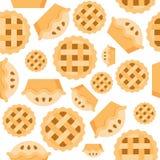 Musterbäckerei-Produktes der Torte flacher Entwurf des nahtlosen vektor abbildung