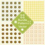 Musterbündelfarbblumen- und -elementvektor lizenzfreies stockfoto