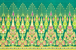Musterbeschaffenheit der allgemeinen traditionellen siamesischen Art Lizenzfreies Stockfoto