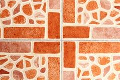 Musterbeschaffenheit der Keramikziegelwand Lizenzfreie Stockbilder