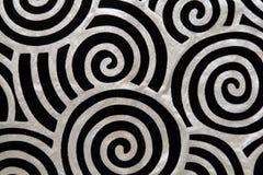 Musterbeschaffenheit der Rotationen twirly seidige Textil Lizenzfreies Stockbild