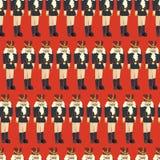 Musterfliese Vektor des Nussknackers nahtlose Weihnachts lizenzfreie abbildung
