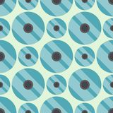 Musterformkunst des farbigen Kreises Hintergrund-Vektorillustration der nahtlosen geometrische grafische Lizenzfreie Stockfotos