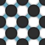 Musterformkunst des farbigen Kreises Hintergrund-Vektorillustration der nahtlosen geometrische grafische Stockfotografie