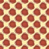 Musterformkunst des farbigen Kreises Hintergrund-Vektorillustration der nahtlosen geometrische grafische Lizenzfreies Stockbild