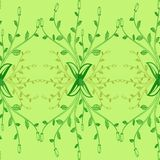 Mustergrünblattbuschabstraktions-Grafikflora stock abbildung