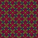 Mustergraphiken der grünen roten Blume des Blattes blaue Stockbild