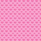 Musterherzen auf einem rosa Hintergrund Stockbild