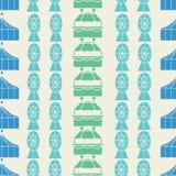 Musterhintergrund des vertikalen Sahnekarnevals des Vektors nahtloser stock abbildung