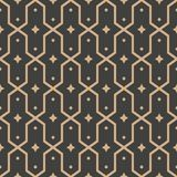 Musterhintergrundpolygongeometriekreuzrahmen-Sternkaleidoskop des Vektordamastes nahtloses Retro- Eleganter brauner Tonluxusentwu vektor abbildung