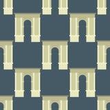 Musterillustration des klassischen Bogens des Bogenvektorarchitekturbaurahmenspalteneingangsdesigns nahtlose Lizenzfreie Stockbilder