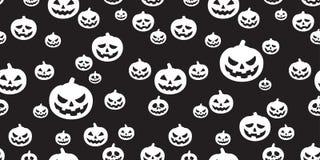 Musterkürbis-Geistschal Halloweens lokalisierte nahtloser Wiederholungstapetenfliesen-Hintergrundschwarzes Stockbilder
