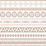 Mustermexiko-Vektorbrauns des Kaffees ethnische Stammes- mexikanische Beschaffenheiten des nahtlosen in der Karamellfarbe vektor abbildung