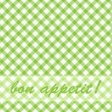 Musterpicknickgrün. Lizenzfreie Stockfotografie