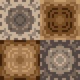 Musterpixel-Beschaffenheitsbraun Stockbilder