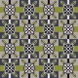Musterpixelbeschaffenheits-Grüngrau Stockbilder