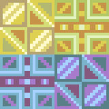 Musterpixelkunst-Gelbblau Lizenzfreie Stockbilder
