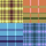 Musterpixelkunst-Gelbblau Stockfotos