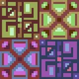 Musterpixelkunst-Grünpurpur Lizenzfreie Stockbilder