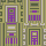 Musterpixelkunst-Grünpurpur Stockfotografie