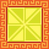 Musterpixelkunst-Quadratgelb Stockfotos