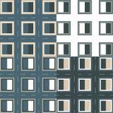 Musterquadrat mit Rahmen und Stichen Stockbild