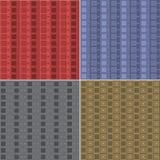 Musterquadrate und -diamanten Stockfoto