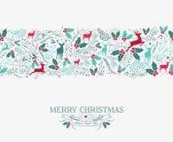 Musterrenstechpalme der frohen Weihnachten nahtlose Stockfotos