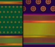Mustersatz Inder Pattu Sari Vector lizenzfreie stockfotos