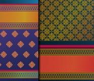 Mustersatz Inder Pattu Sari Vector stockfotos