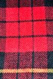 Musterschottenstoffwollbeschaffenheitshintergrund des roten Quadrats Stockbilder