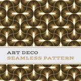 Musterschwarzweiß- und -goldfarben 08 Art Decos nahtlose Lizenzfreies Stockfoto