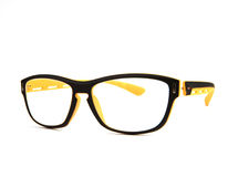 Mustert Gläser auf weißem Hintergrund mit Studioleuchte Lizenzfreies Stockbild