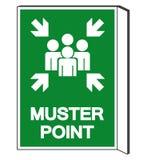 Musterungs-Punkt-Symbol-Zeichen, Vektor-Illustration, lokalisiert auf wei?em Hintergrund-Aufkleber EPS10 stock abbildung