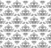 Mustervektor des barocken Damastes der Weinlese nahtloser lizenzfreie abbildung