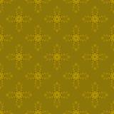 Mustervektor-Florasenf der gelben Blumenzusammenfassung grafischer Lizenzfreie Stockfotografie