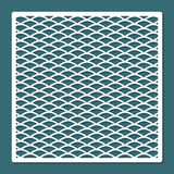 Musterverzierungswellen-Laser-Ausschnitt Geometrisches Muster Dekoratives Innenelement Stockbilder