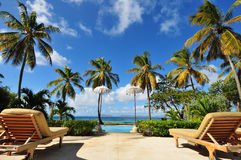 Mustique Balcony Stock Images