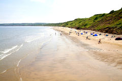 Muston sands, Filey, Yorkshire, UK. Stock Photo