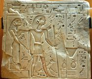 埃及象形文字musuem 库存照片