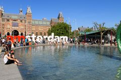 Musuemplein, Amsterdam, The netherlands,North-Europe Royalty Free Stock Images