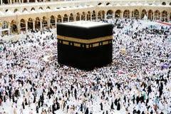 Musulmanes del jadye de Makkah Kaaba Imágenes de archivo libres de regalías