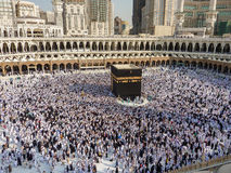 Musulmanes del jadye de Makkah Kaaba Fotos de archivo